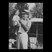 Patricia Gucci (aged 2) with Father - Aldo Gucci